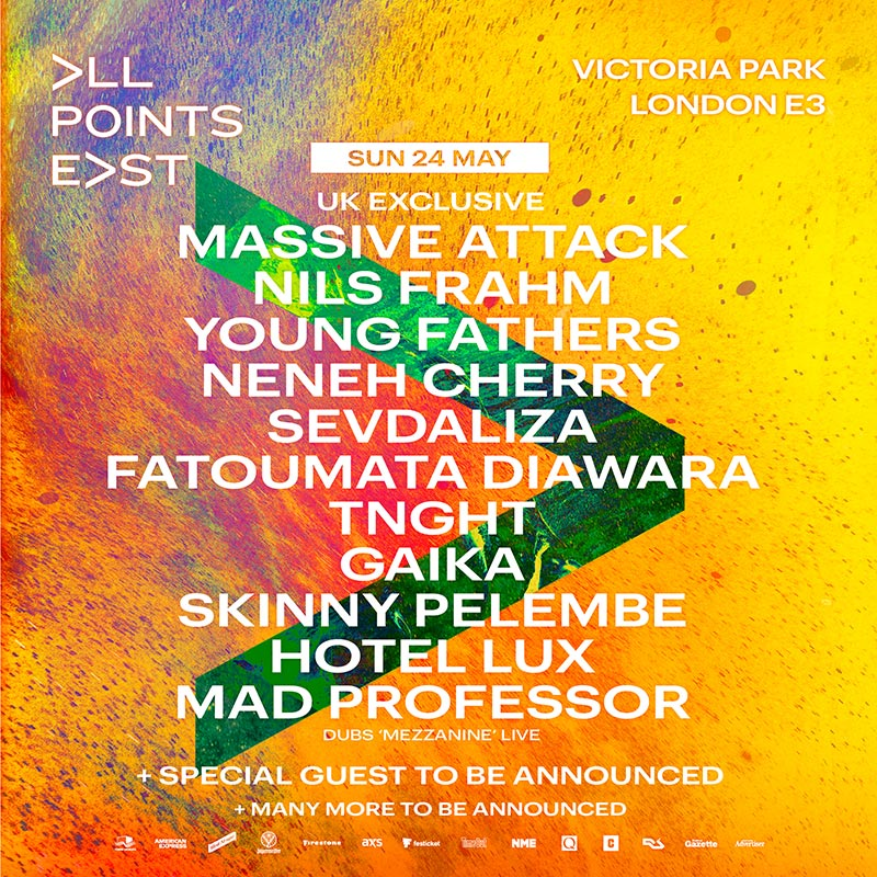 All Points East w/ Massive Attack at Victoria Park on Sun 24th May 2020 Flyer