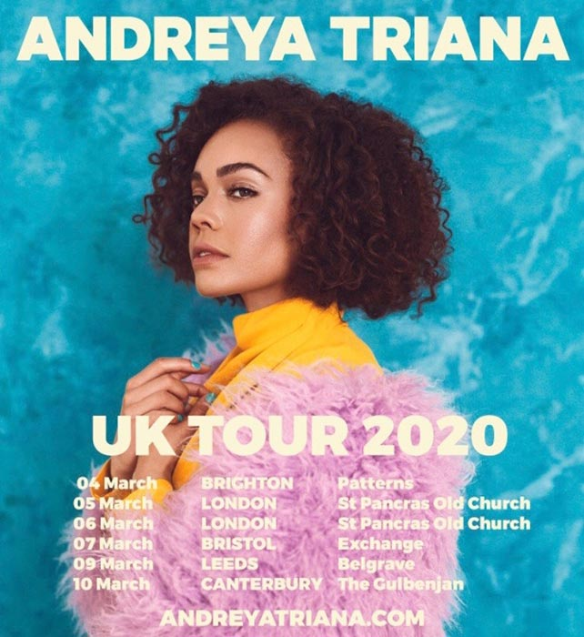 Andreya Triana at St. Pancras Old Church on Thu 5th March 2020 Flyer