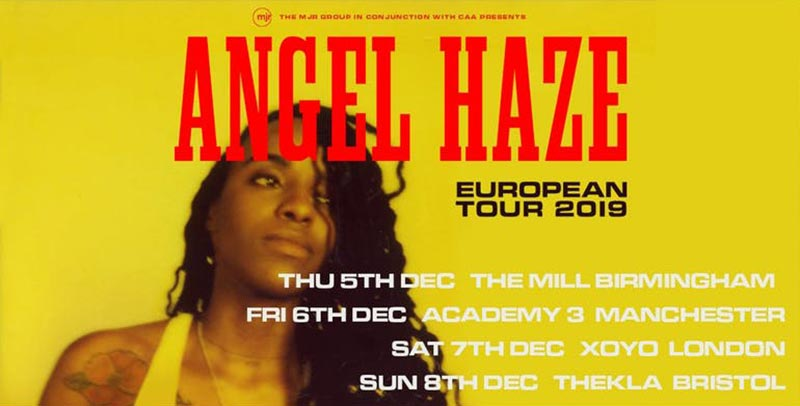 Angel Haze at XOYO on Sat 7th December 2019 Flyer