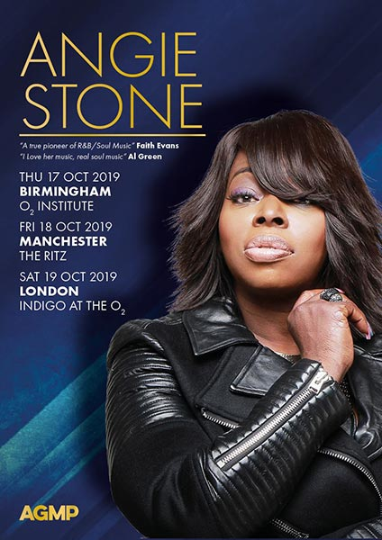 Angie Stone at Indigo2 on Sat 19th October 2019 Flyer