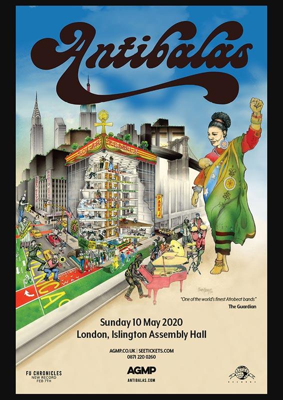 Antibalas at Islington Assembly Hall on Sun 10th May 2020 Flyer
