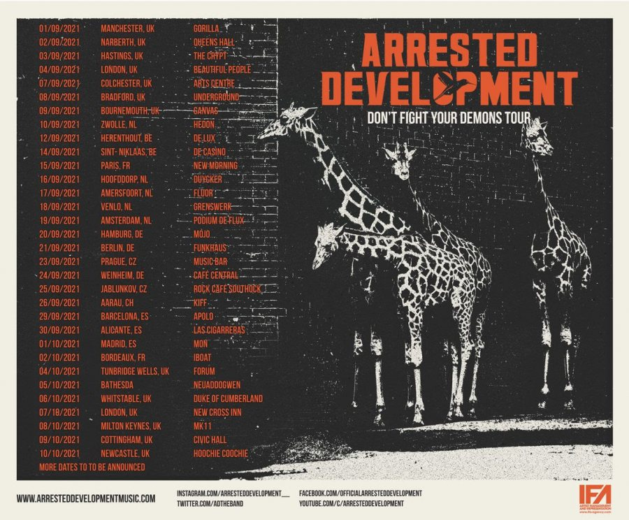 Arrested Development at New Cross Inn on Thu 7th October 2021 Flyer