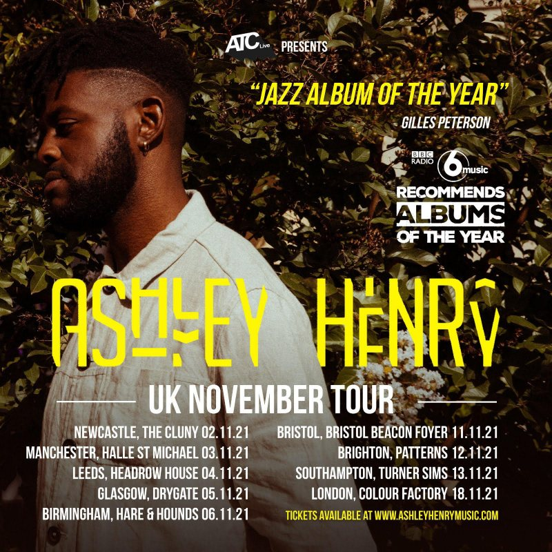 Ashley Henry at Colour Factory on Thu 18th November 2021 Flyer