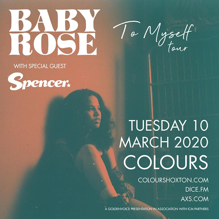 Baby Rose at Colours Hoxton on Tue 10th March 2020 Flyer
