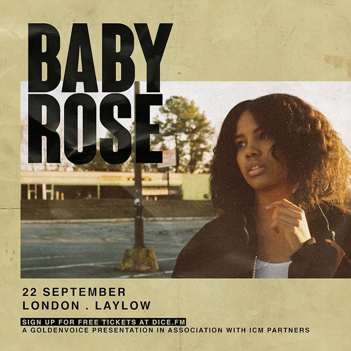 Baby Rose at Laylow on Sun 22nd September 2019 Flyer