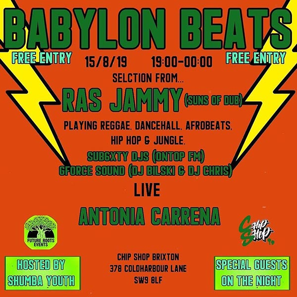 Babylon Beats at Chip Shop BXTN on Thu 15th August 2019 Flyer