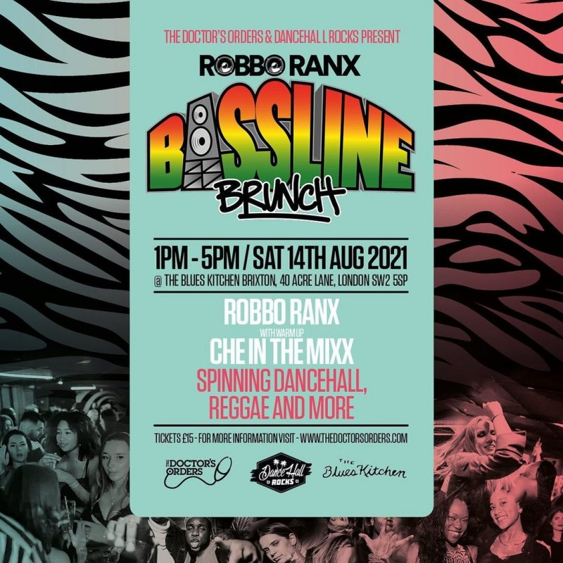 Bassline Brunch at The Blues Kitchen Brixton on Sat 14th August 2021 Flyer