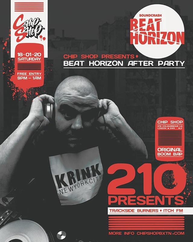 Beat Horizon Afterparty at Chip Shop BXTN on Sat 18th January 2020 Flyer