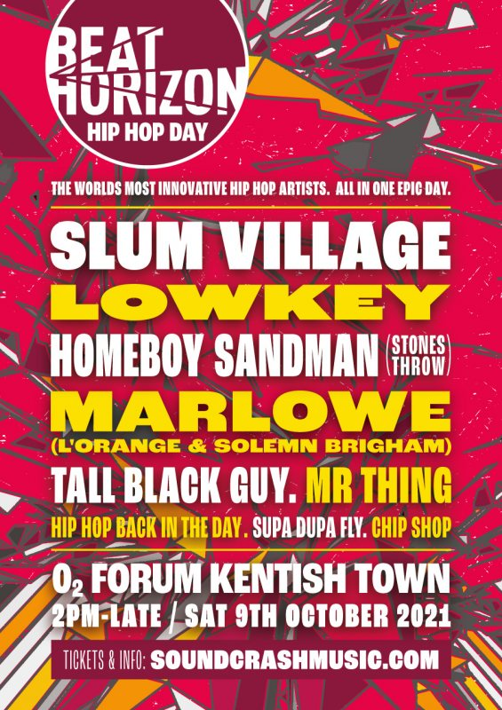 Beat Horizon : HIP HOP DAY at The Forum on Sat 9th October 2021 Flyer
