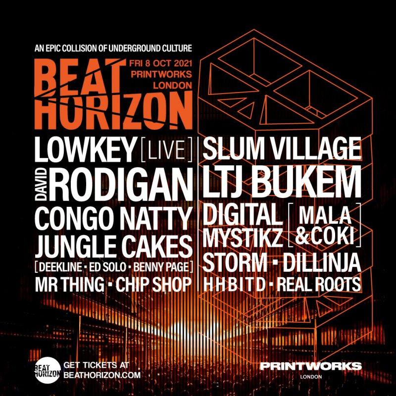 Beat Horizon at Printworks on Fri 8th October 2021 Flyer