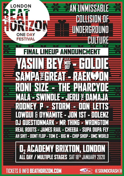 Beat Horizon Festival at Brixton Academy on Saturday 18th January 2020 Flyer