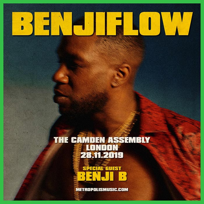 BenjiFlow at Camden Assembly on Thu 28th November 2019 Flyer