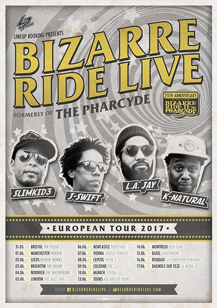 Bizarre Ride II at Jazz Cafe on Mon 5th June 2017 Flyer