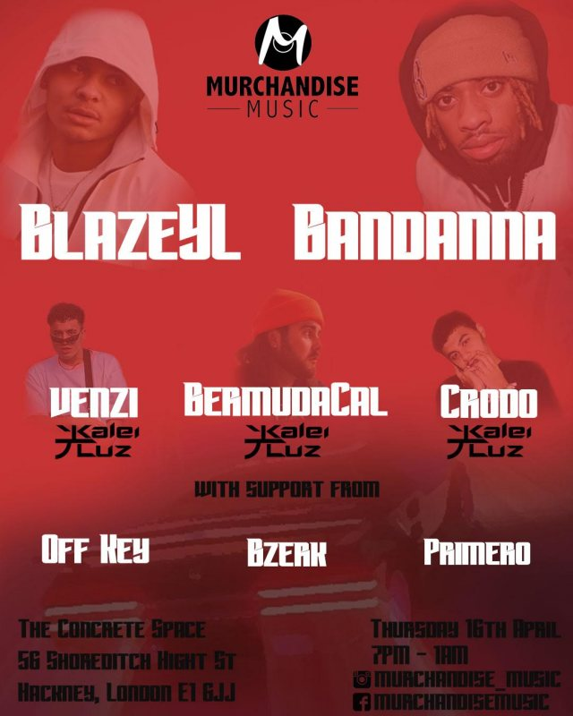 Blaze YL and Bandanna Clips at Concrete on Thu 16th April 2020 Flyer
