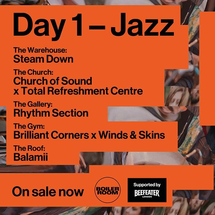 Boiler Room Festival Day 1: Jazz at Peckham on Wed 9th October 2019 Flyer