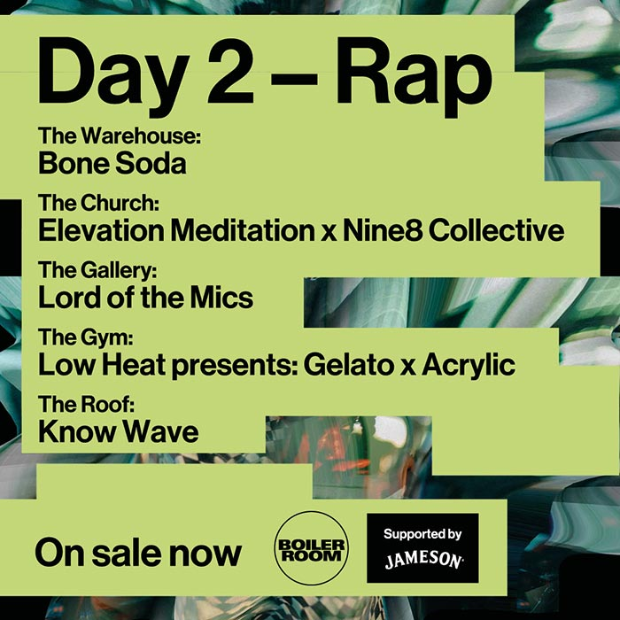 Boiler Room Festival Day 2: Rap at Peckham on Thu 10th October 2019 Flyer