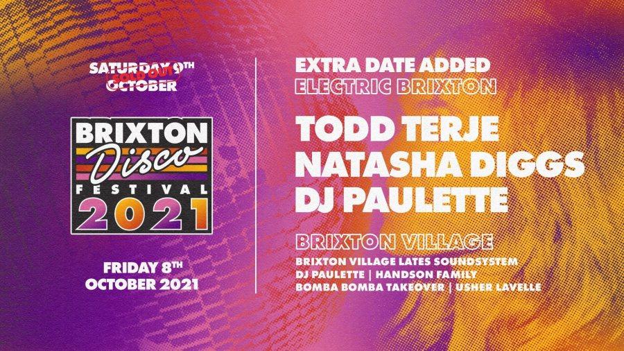 Brixton Disco Festival 2021 at Electric Brixton on Fri 8th October 2021 Flyer