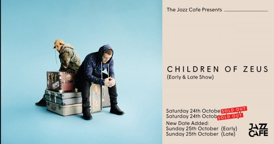 Children of Zeus at Jazz Cafe on Sun 25th October 2020 Flyer