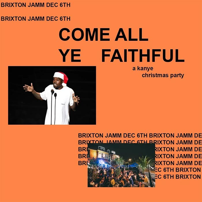 Come All Ye Faithful at Brixton Jamm on Fri 6th December 2019 Flyer