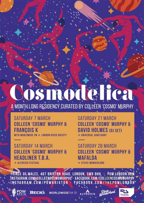 Cosmodelica at Prince of Wales on Sat 7th March 2020 Flyer