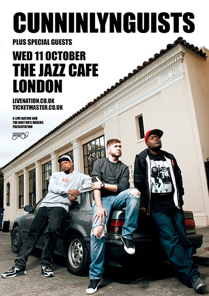 Cunninlynguists at Jazz Cafe on Wed 11th October 2017 Flyer