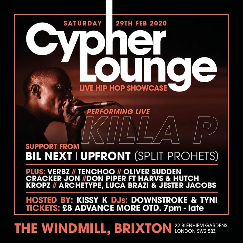 The Cypher Lounge at The Windmill Brixton on Sat 29th February 2020 Flyer