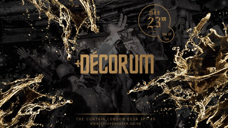 Décorum at The Curtain on Sat 23rd May 2020 Flyer