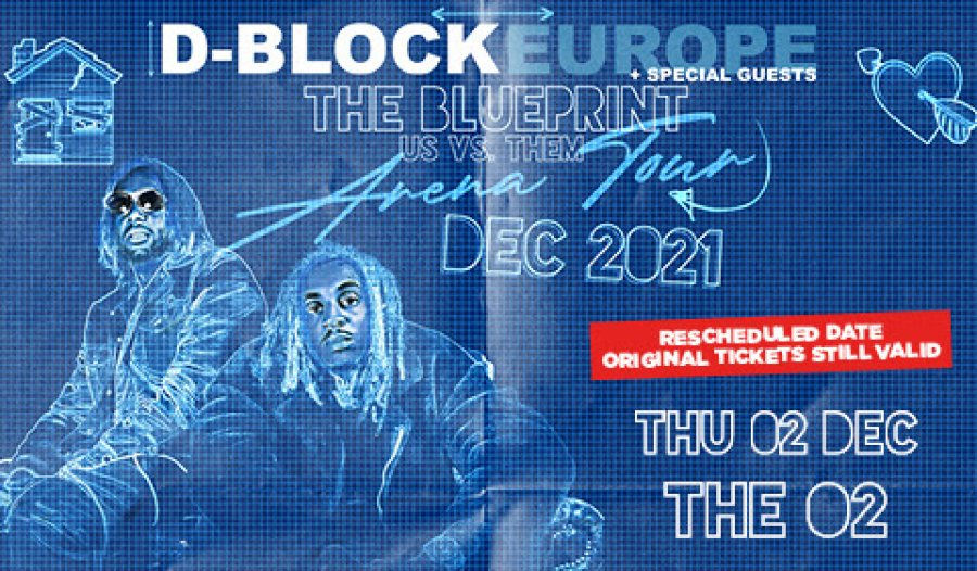 D Block Europe at The o2 on Thu 2nd December 2021 Flyer