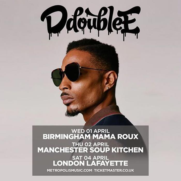 D Double E at Lafayette on Sat 4th April 2020 Flyer
