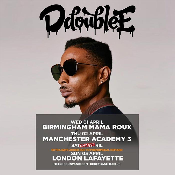 D Double E at Lafayette on Sun 5th April 2020 Flyer