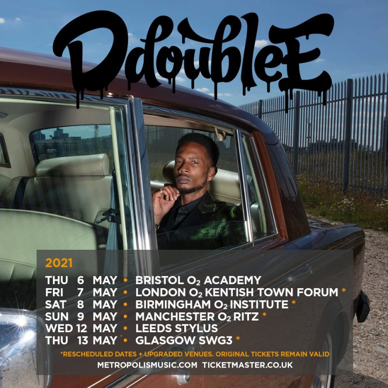 D Double E at The Forum on Fri 7th May 2021 Flyer
