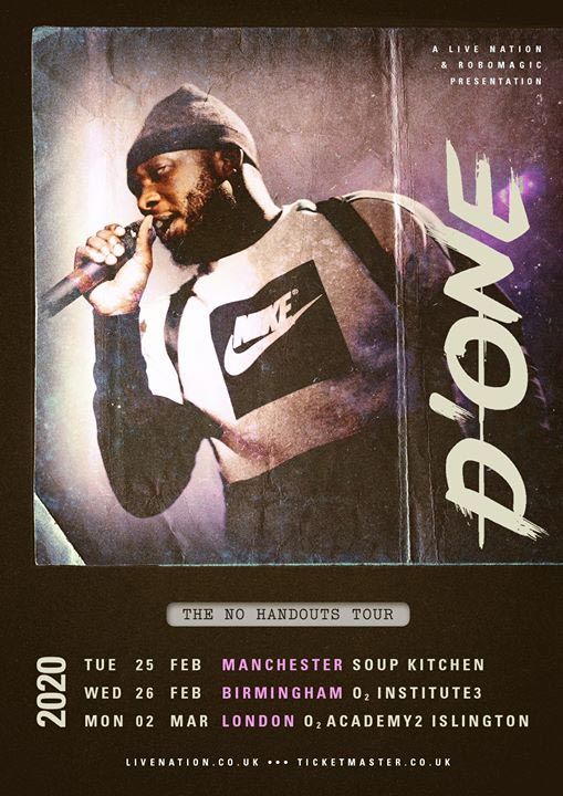 D'One at Islington Academy on Mon 2nd March 2020 Flyer