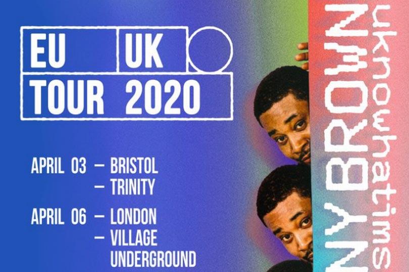 Danny Brown at Village Underground on Mon 6th April 2020 Flyer
