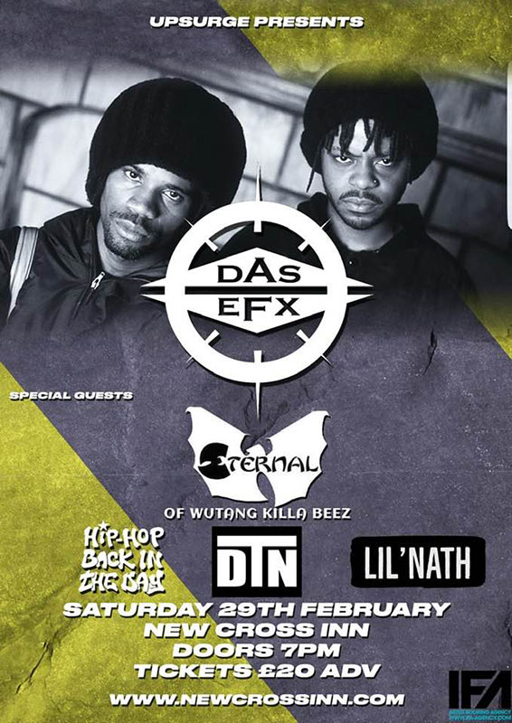 Das Efx at New Cross Inn on Saturday 29th February 2020 Flyer