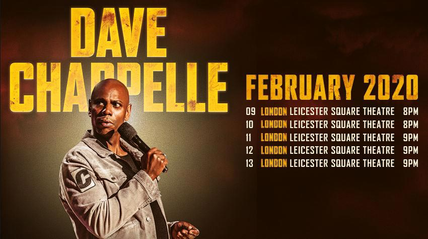 Dave Chapelle at Leicester Square Theatre on Sun 16th February 2020 Flyer