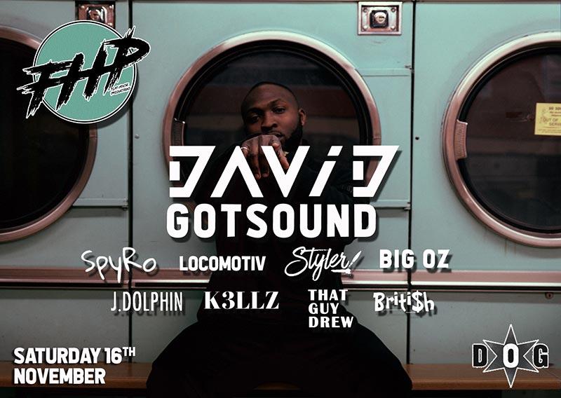 David GotSound at Dogstar on Sat 16th November 2019 Flyer