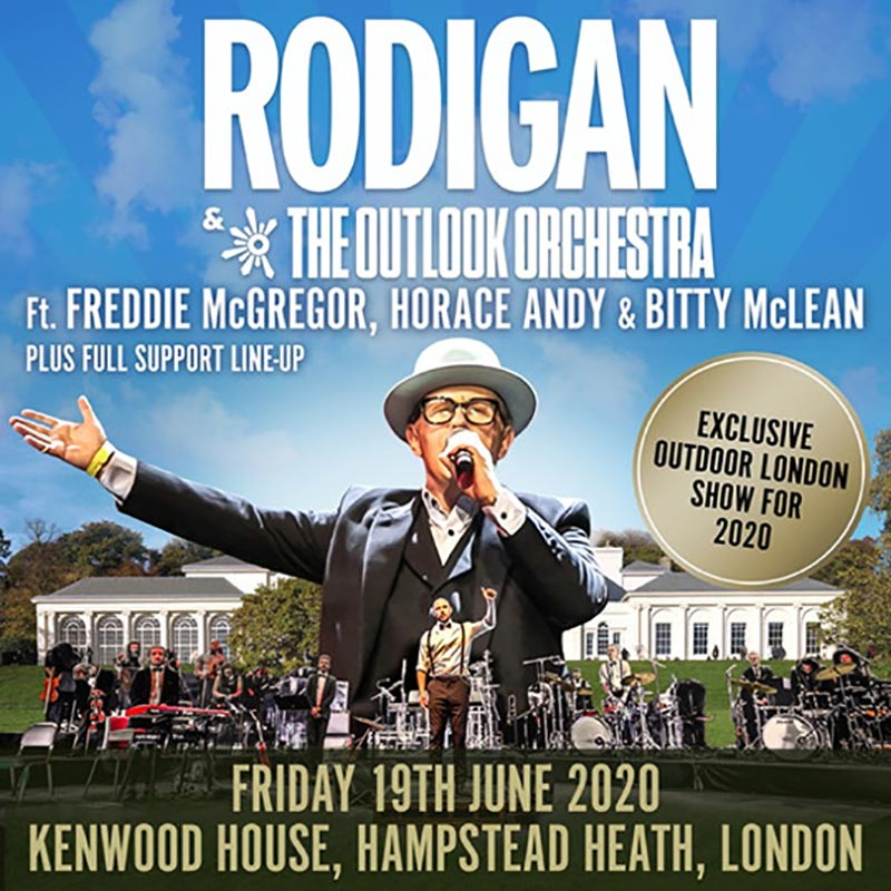 David Rodigan & The Outlook Orchestra at Kenwood House on Fri 19th June 2020 Flyer