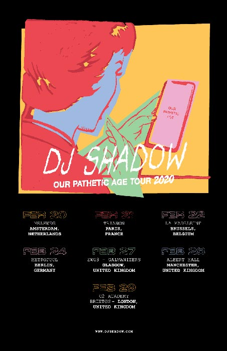 DJ Shadow at Brixton Academy on Sat 29th February 2020 Flyer