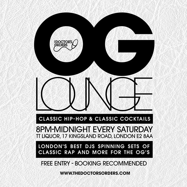OG Lounge at TT Liquor on Sat 9th November 2019 Flyer