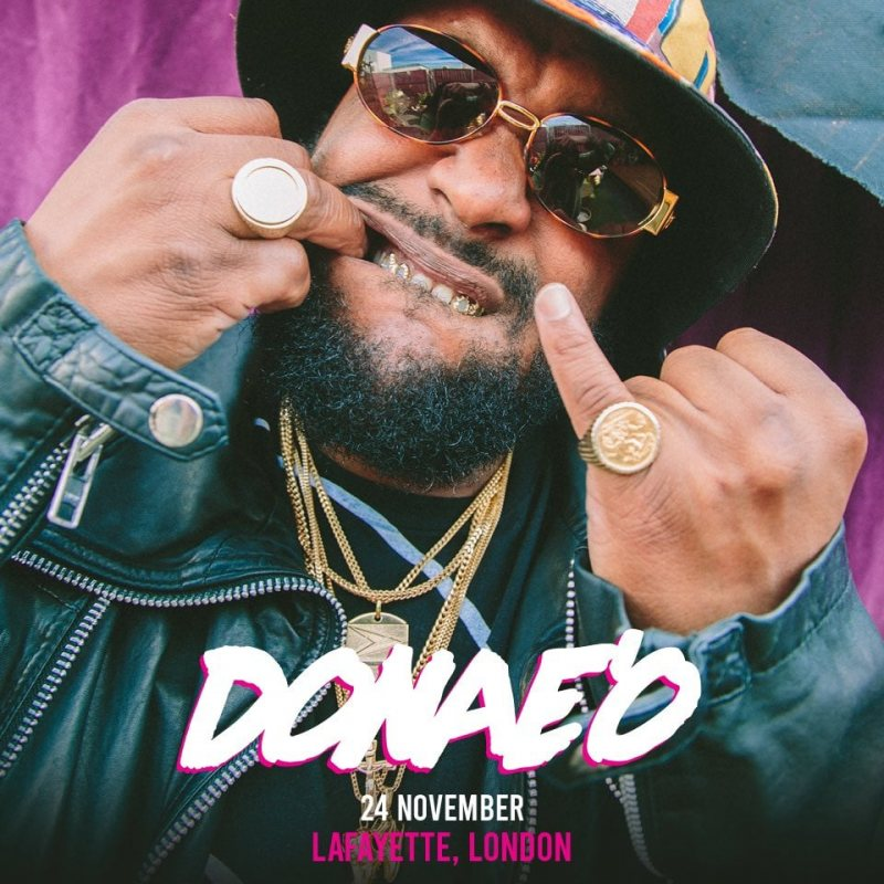 DONAE'O at Lafayette on Wed 24th November 2021 Flyer
