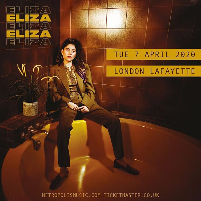 Eliza at Lafayette on Tue 7th April 2020 Flyer