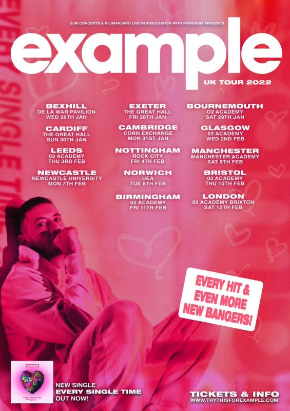 Example at Brixton Academy on Sat 12th February 2022 Flyer