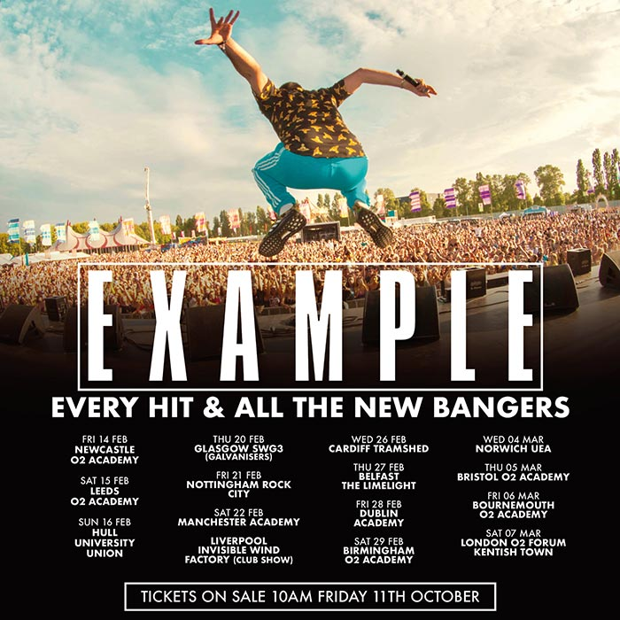 Example at The Forum on Sat 7th March 2020 Flyer