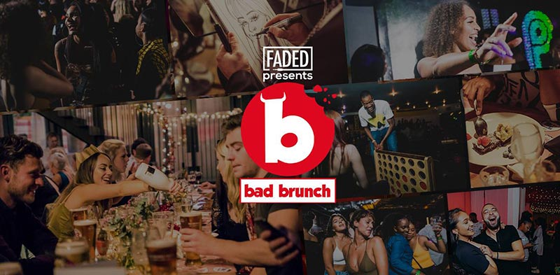 Bad Brunch at The Curtain on Sat 13th July 2019 Flyer