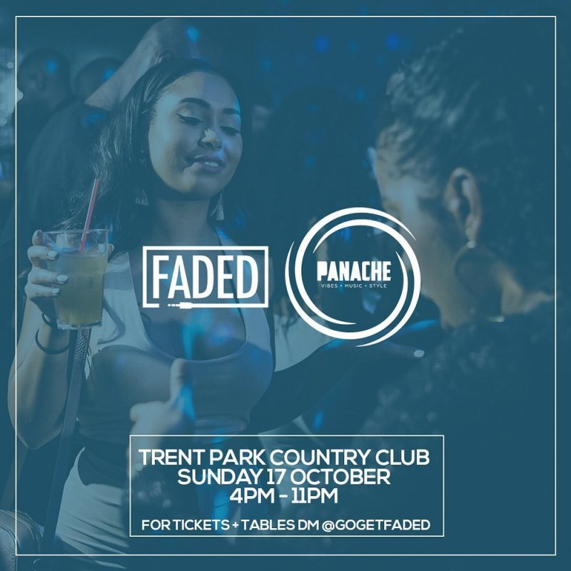 Faded x Panache at Trent Park on Sun 17th October 2021 Flyer
