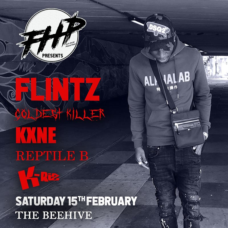 Flintz at The Beehive on Sat 15th February 2020 Flyer