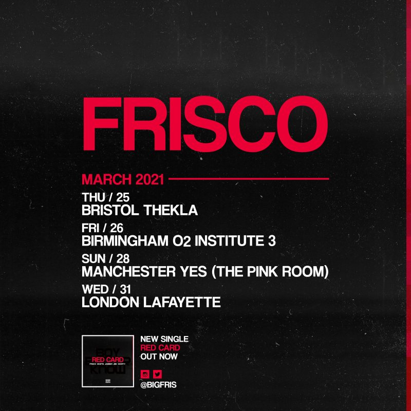 Frisco at Lafayette on Wed 31st March 2021 Flyer