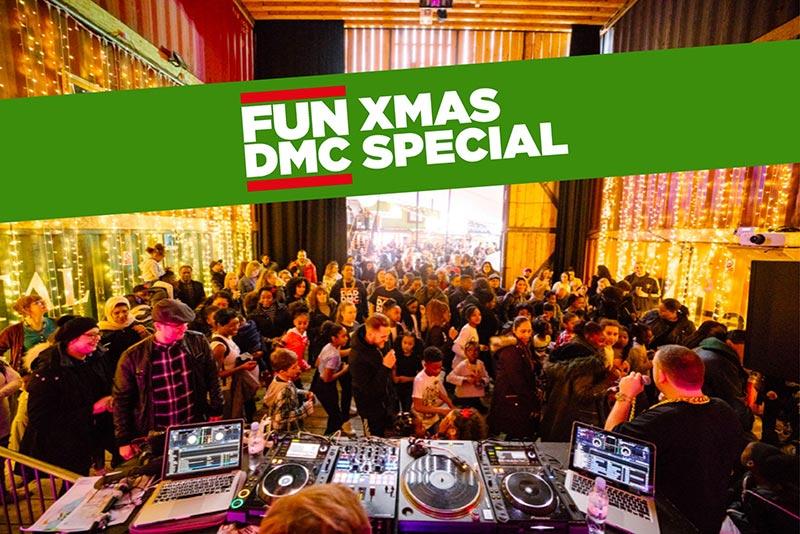 FUN DMC Xmas Special at Pop Brixton on Sat 14th December 2019 Flyer