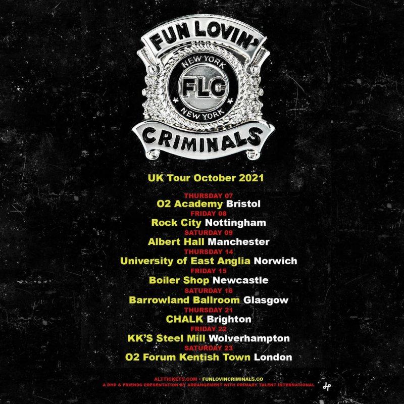 Fun Lovin' Criminals at The Forum on Sat 23rd October 2021 Flyer