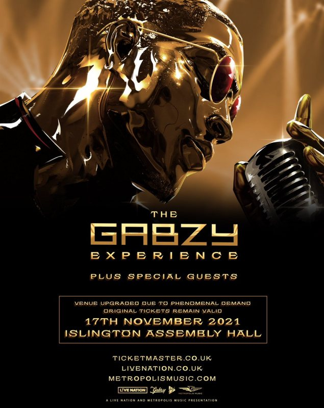 Gabzy at Islington Assembly Hall on Wed 17th November 2021 Flyer